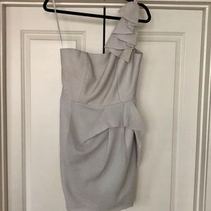 BCBG grey cocktail dress